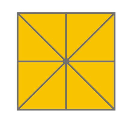 may Sonnenschirm Quadrat