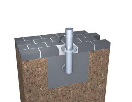 may Ankerhülse RZ118 mit Flächenklemmung für Ampelschirm may RIALTO