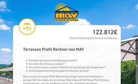 Profitrechner für Gastronomieterrassen für gastrobetriebe und hotels