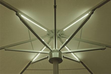may albatros mit LED-Beleuchtung im Schirmdach