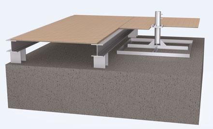 may standrahmen sz210 in eine terrasse eingebaut unsichtbares fundament