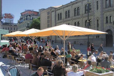 may Sonnenschirm Schattello für Gastronomie und Hotel