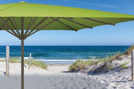 may Sonnenschirm in Heusenstamm Gastro-Schirm albatros mit grüner Bespannung und Heizstrahlern in Heusenstamm von FINK Sonnenschirme