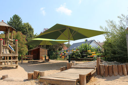 😊 SCHATTELLO Sonnenschirme für Kindergärten vom Fachhändler in HESSEN 🚩 FINK Sonnenschirme