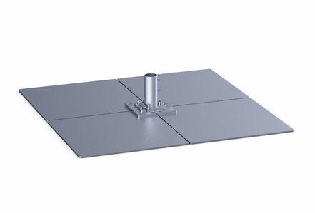 may Standplatte mit klappscharnier für Sonnenschirm schattello stahl verzinkt