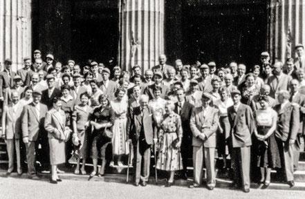 118. Stiftungsfest im Sommer 1956 in Aachen.