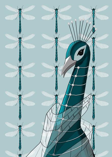 Archiduchesse de Camouflage, Adelige Tiere, Digital Painting