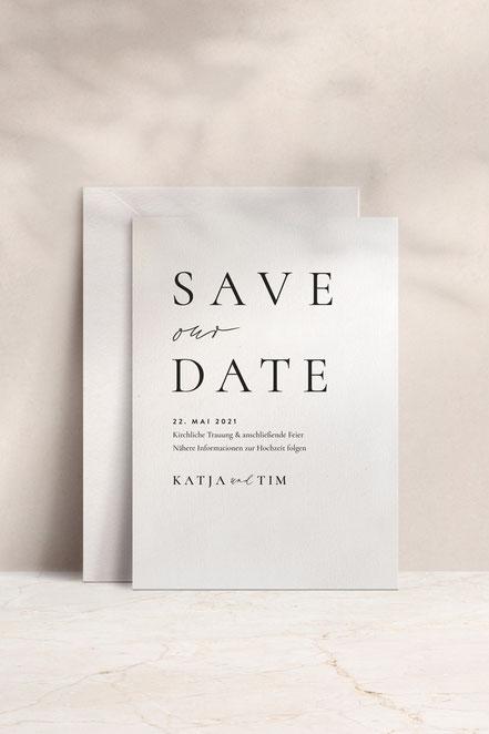 Save the date Karte von studio vanhart – Papeterie & Design