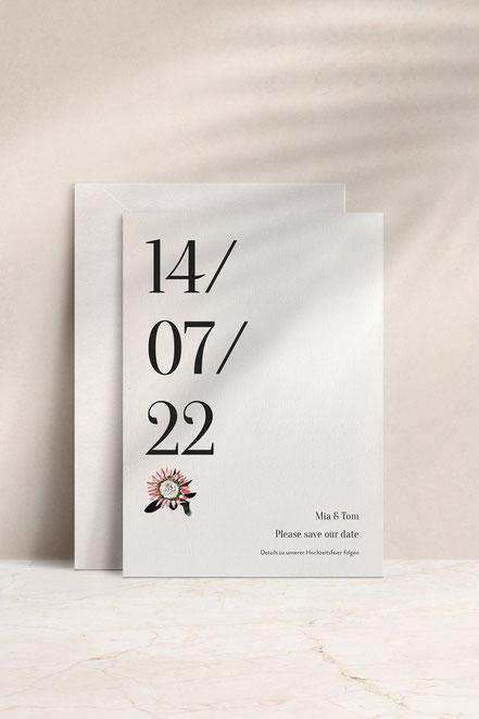 Save the date Karten & Hochzeitskarten von studio vanhart – Papeterie & Design