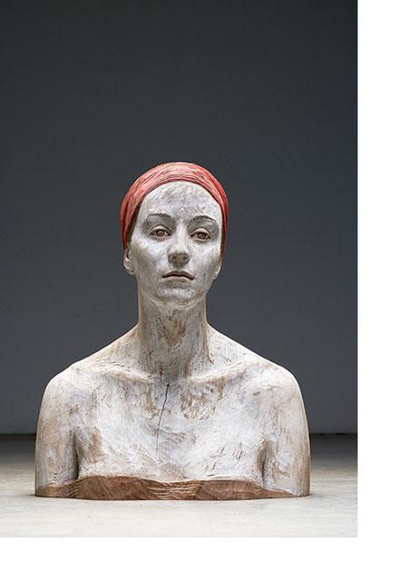 BRUNO WALPOTH, Bernadette 2, Nußholz, 2019, 62x50x32cm
