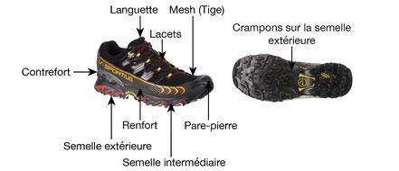 anatomie chaussure de course