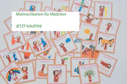 39 unterschiedliche Mutmach-Karten für Mädchen