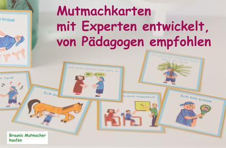 Mutmachkarten, mit Experten entwickelt, von Pädagogen empfohlen