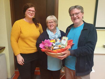 Obfrau Susi Langer bedankte sich bei Maria und Franz Dungl