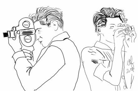 Illustration Garda Taro et Robert Capa : Emilie Thilliez-Fernandes CC-BY-SA
