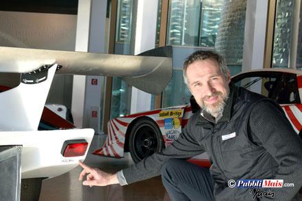 lancia lc1 martini lo stampino di pubblimais e mais roberto su vettura originale grafica firmata da Pubbli auto presso dallara academy