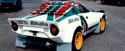 vettura rally lancia stratos alitalia realizzata da pubblimais