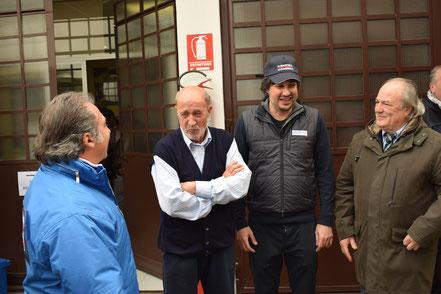 Da sinistra Luciano Tassone, Vinicio Mais, Luca Mais, Sergio Martinetto