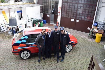 Da sinistra: Mattia, Vinicio, Roberto, Luca