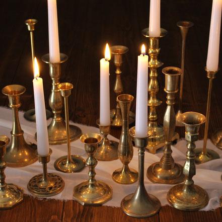 Messingkerzenständer Boho Kerzenständer