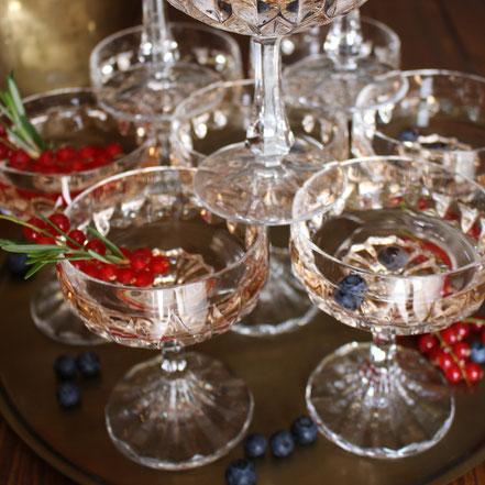Sektschalen Champagnerschalen Vintagegläser Kristallgläser