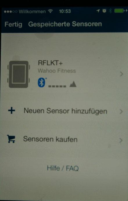 """Bei mir steht der RFLKT+ bereits in der Liste. Doch unter """"Neuen Sensor hinzufügen"""" legt  man den RFLKT an."""