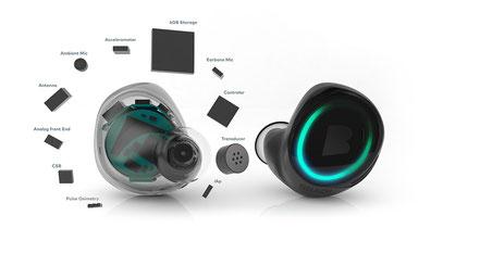 Nanotechnik und Mikrochips machen es möglich so viele Funktionen in einem so kleinen Gerät zu vereinen. #Dash #Bragi