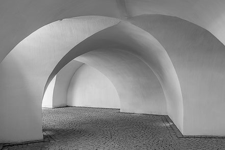 Bóveda antigua enyesada