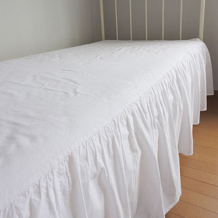 ベッドカバー ベッドスカート ドレスカバー 白 フリル