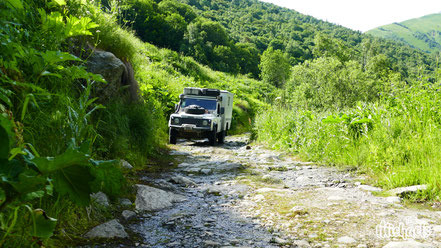 The Michaels, Georgien, Seidenstrasse, Land Rover, Offroadtracks