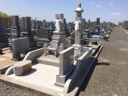 オール万成石の先祖墓8寸+一石供養塔+外柵