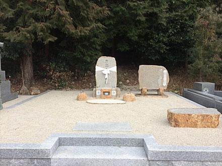自然石先祖墓(万成砂利2.5t):備前2017.3