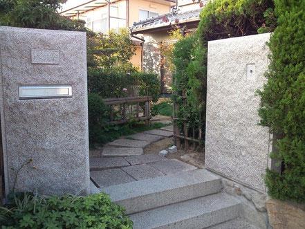 万成石塀(表札・ポスト・チャイム)