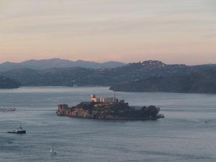 Die Gefängnisinsel Alcatraz, mein Reiseziel für den letzten Abend...