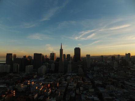 Die Skyline von San Francisco, gesehen vom Coit Tower