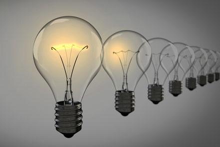"""Lampen als Sinnbild für """"Ihre Vorteile"""""""