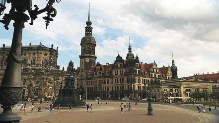 Das Dresdener Stadtschloss- Elisabeths Witwensitz während ihrer Ehe mit Herzog Johann von Sachsen.