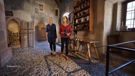 Die Rochlitzer Schlossküche in noch in ihrem historischen Zustand erhalten.