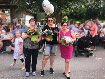 Die Betreuerinnen der Fördergruppe Steinheim beim Sommerfest 2019