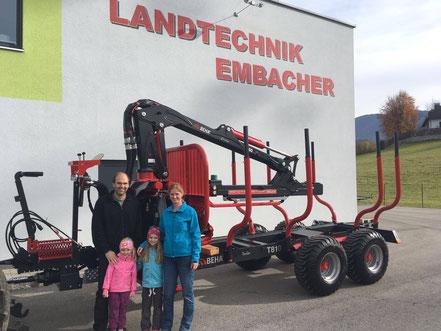 Übergabe eines BEHA T810 Holzrückewagens nach Kirchbichl