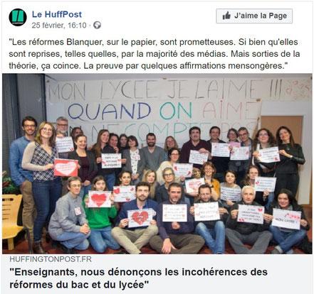 Contre Stop Réformes Blanquer Lycée Bac Fonsorbes