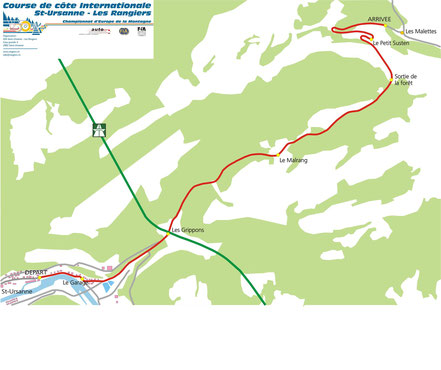 Streckenplan Les Rangiers