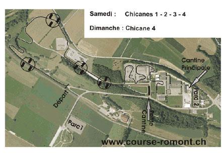 Streckenplan Romont