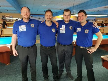 8-Ball-Pokal Platz 4: Harald Holzner, Helmut Kulig, Raphael Holzner, Daniel Drexlmeier