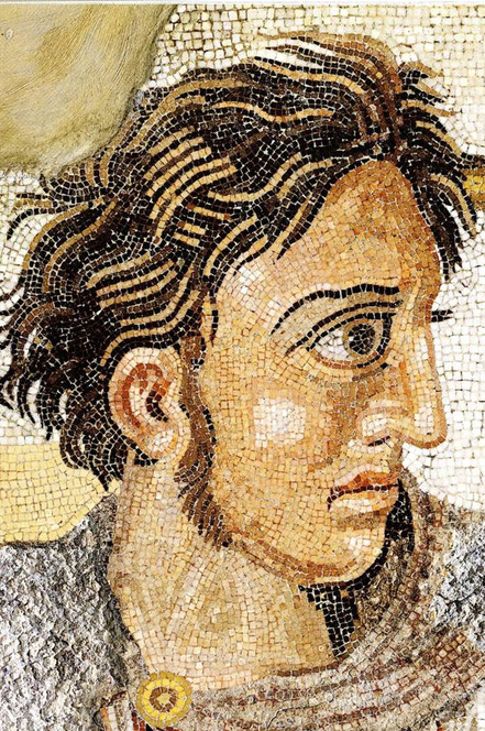 Ausschnitt Alexander-Mosaik