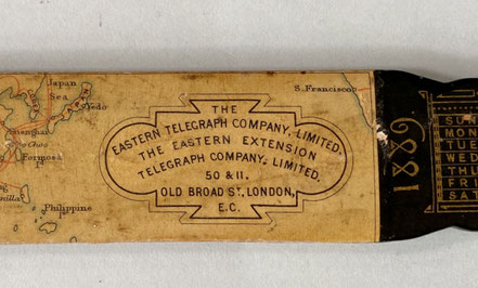 The Eastern Telegraph Company Page Turner dated 1889