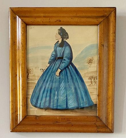 Watercolour of Mrs J Bock of Maine, USA
