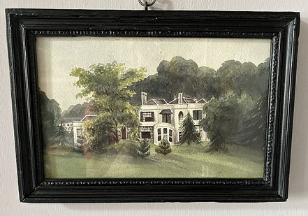 Naive 19thc watercolour of a Manor House