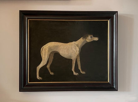 Naive portrait of 'Friend' one of Major Tophams' greyhounds, early 19th century