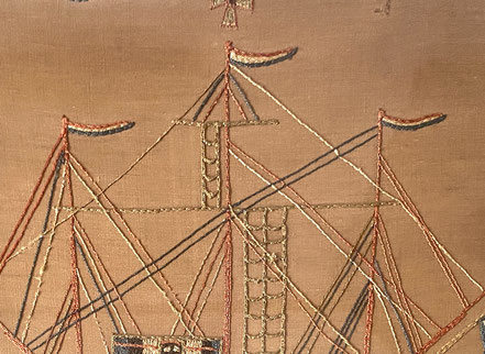 19th century Silk Work of a Young Wood Gatherer